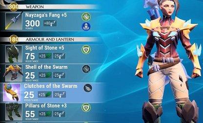 Equip Terra Armor & Shock Weapons