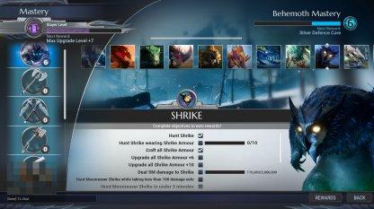 Defeat Behemoths To Raise Behemoth Mastery