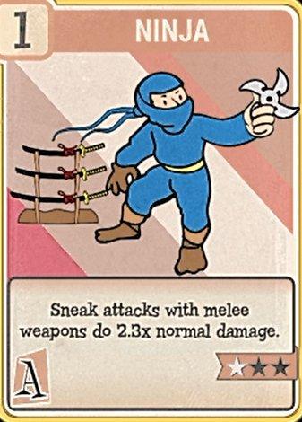 fallout 76 Perk Card Agility Ninja