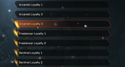Anthem Faction Loyalty Each Faction Has 3 Loyalty Levels