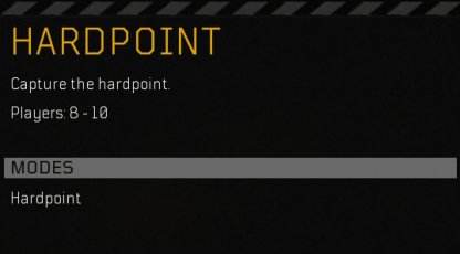 Hardpoint - Multiplayer Mode