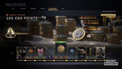 COD Points From The Battle Tier