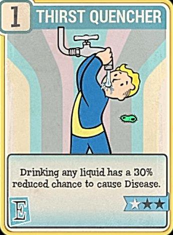Fallout 76 Perk Card Endurance Thirst Quencher