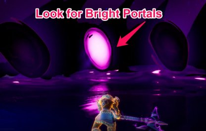 Look for Bright Portal in Dimensional Rift