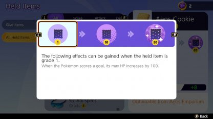 Bring Held Items That Grant Buffs Upon Scoring