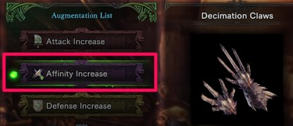 Affinity Augmentations For Equipment
