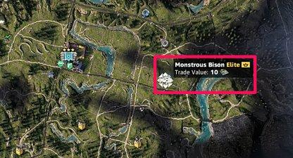Monstrous Animal Monstrous Bison Location 1