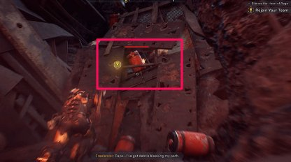 Anthem Aim For the Red Gasoline Barrel To Explode Metal Debris