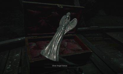 Silver Angel Statue