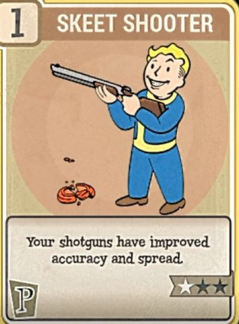 Fallout 76 Perk Cards Perception Skeet Shooter