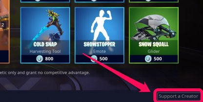 Share the Love Support a Creator item shop