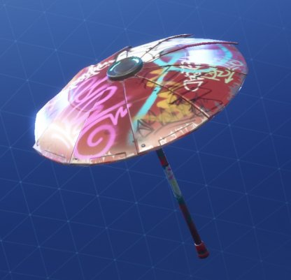 Fortnite Umbrella WET PAINT