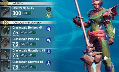 Equip Terra Weapons & Shock Armor