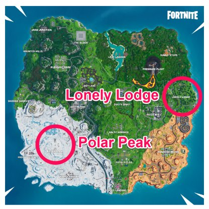 Polar Peak & Lonely Lodge Chest Locations