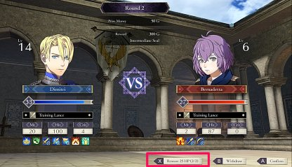 Use X Button To Heal Student Between Matches