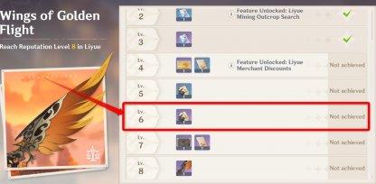 Level 6 Reputation Reward Liyue