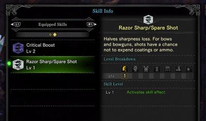 Equip Sharpness-Enhancing Skills
