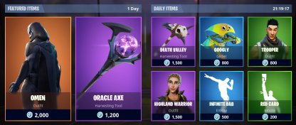 Item Shop Daily Offers