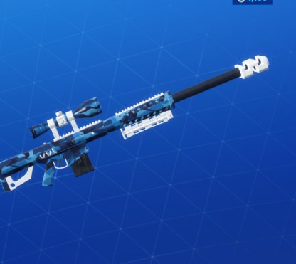 BLUE CAMO Wrap - Sniper Rifle