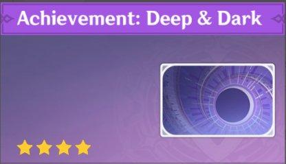 Complete To Get Achievement: Deep & Dark Namecard