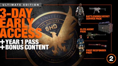 Division 2 Year 1 Pass Comes With Gold & Ultimate Editions