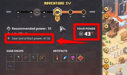 Drops Depend On Power Level