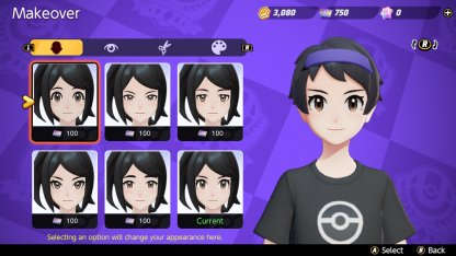 Character Customization Makeover Screen