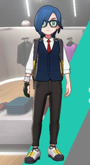 Vest And Tie Ensemble (Navy)