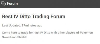 Ditto trading forum