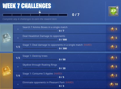 Season 6 Week 7 Challenges