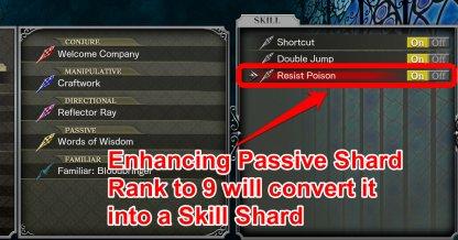 Rank 9 Passive Shards Become Skill Shards