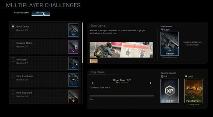 Complete Mission Challenges