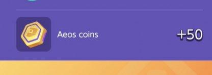Rewards Aeos Coins