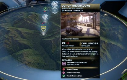 Out Of The Shadows - Mission Rewards & Difficulty