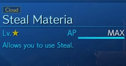 steal materia
