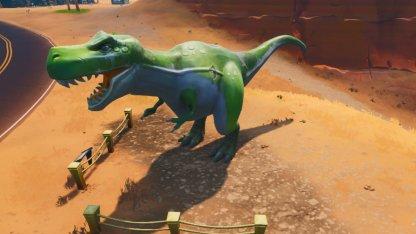 Visit Durrr Burger Head, Dinosaur & Stone Head Statue Challenge