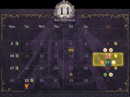Story Progresses Via a Calendar