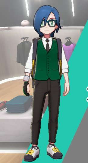 Vest And Tie Ensemble (Green)