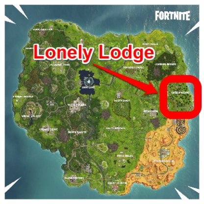 Fortnite Search a Chest in Lonely Lodge