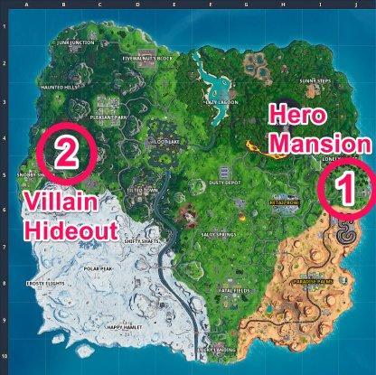 Hero Mansion & Villain Hideout Location