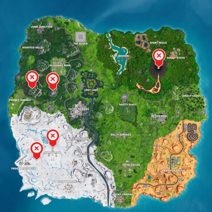 Highest Elevations Map Locations