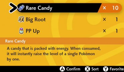 Rare Candies Increase Pokemon Level By 1