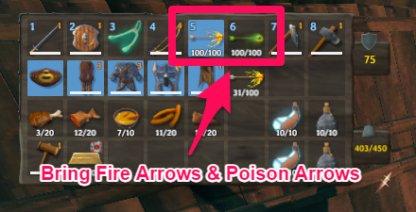 Fire Arrows & Poison Arrows