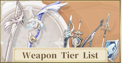 Best Weapon Tier