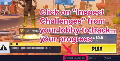 Click On Inspect Challenges From The Lobby