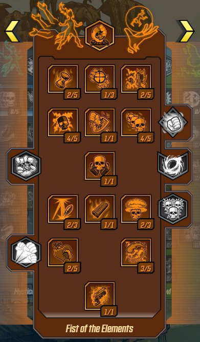 Fist of the Elements - Skill Tree & Action Skills