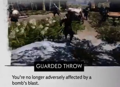 Sticky Bomb: Guarded Throw