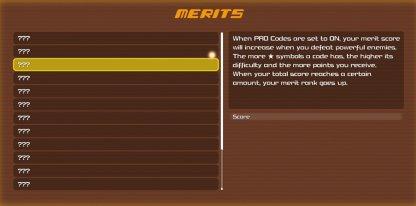 Premium Menu Merits