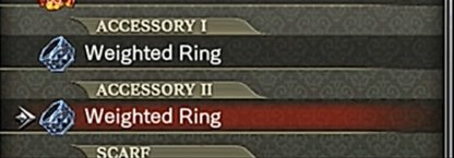 Equip Weighted Ring for More XP