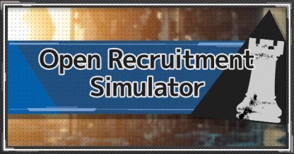 Open Recruitment Simulator